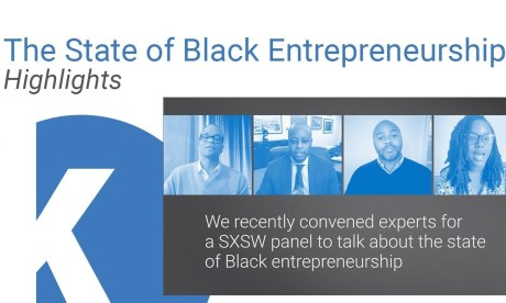 """A Zoom capture of Kauffman Foundation's panel at SXSW 2021, """"The State of Black Entrepreneurship"""""""
